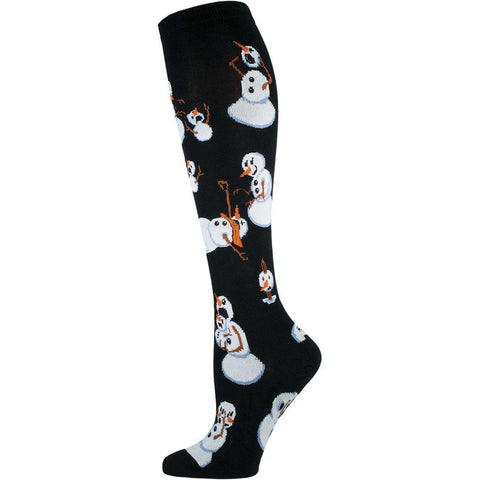 Twisted Snowman Christmas Socks | Crew Socks for Women