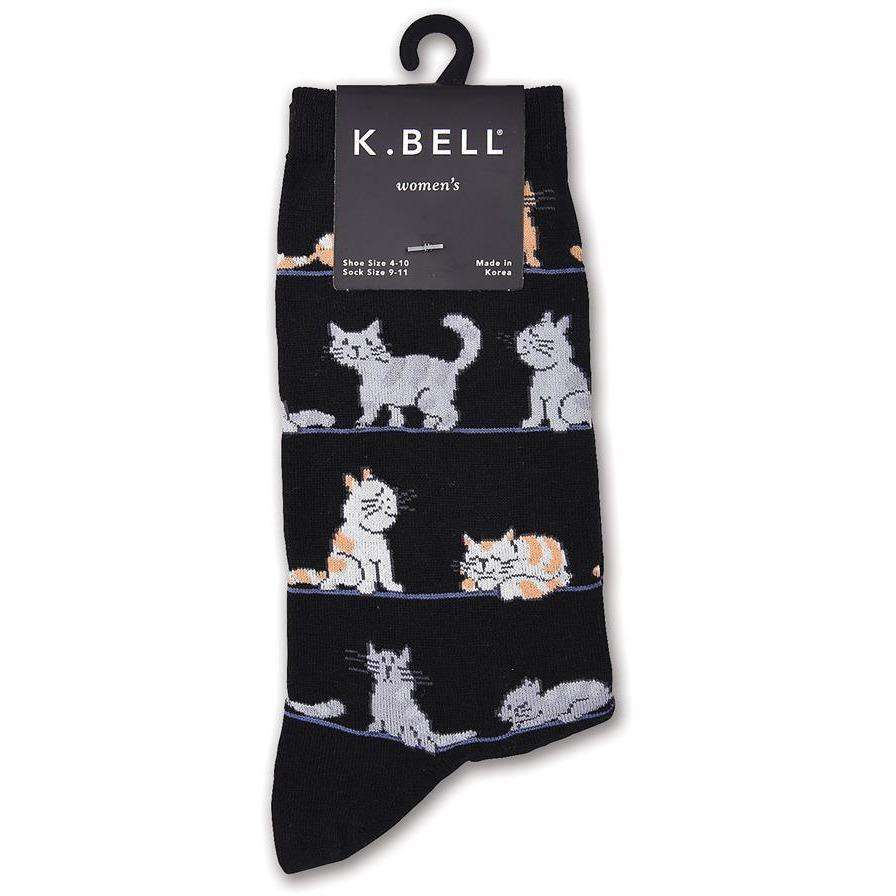 Women's Rows of Cats Socks - K. Bell