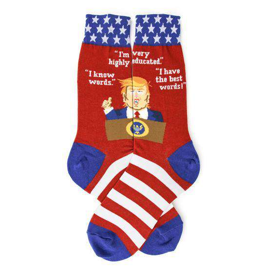 Foot Traffic Novelty Socks Trump Socks - Funny Socks for Men