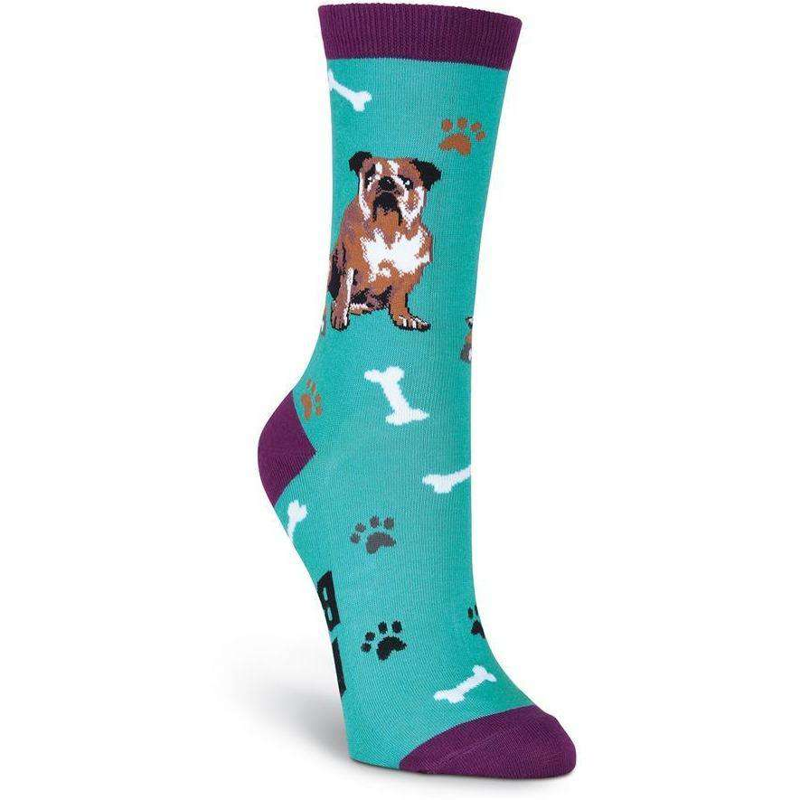 K. Bell Novelty Socks French Bulldog Crew Socks | Fun Dog Socks for Women