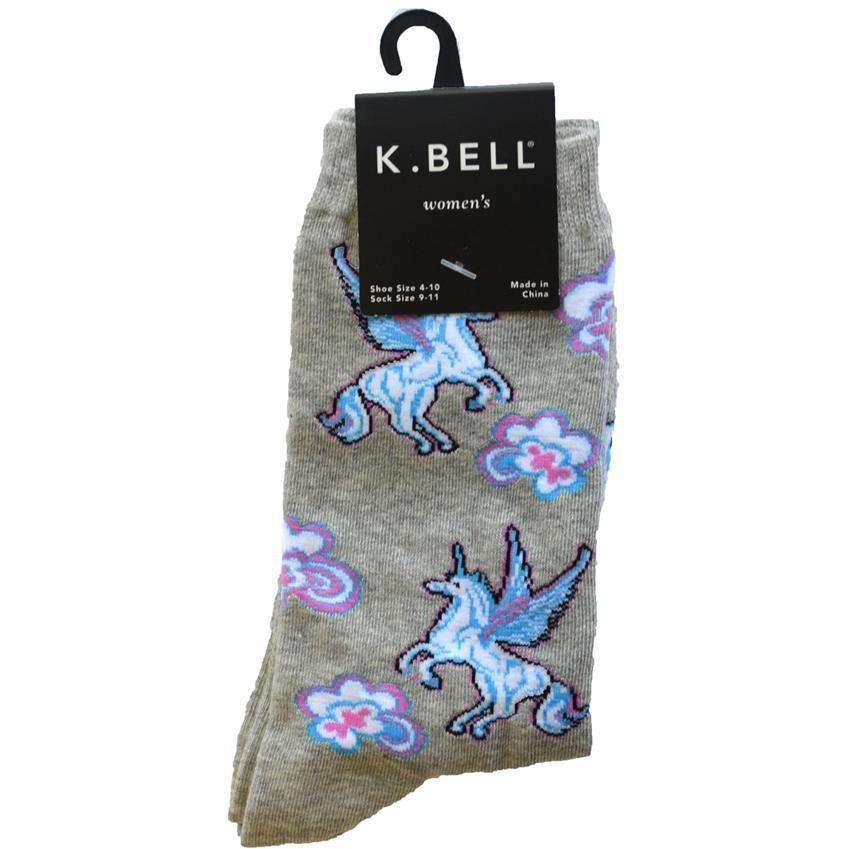 Women's Unicorn Crew Socks - K. Bell