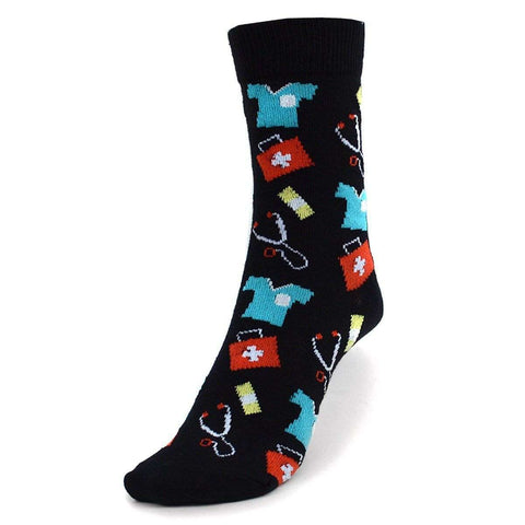 Parquet Novelty Socks Doctor / Nurse Pattern Socks | Novelty for Women
