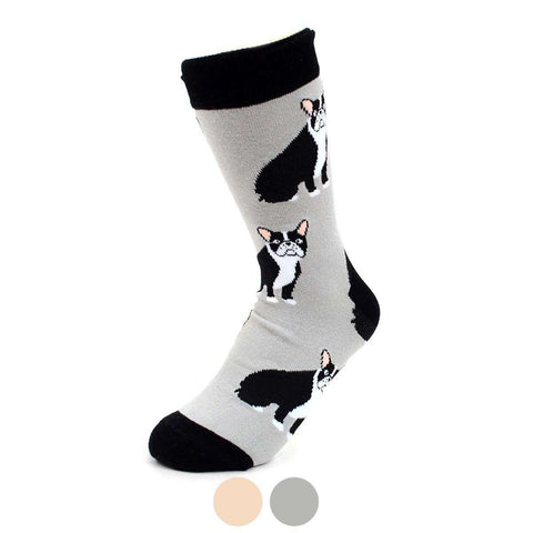 Parquet Novelty Socks French Bulldog Novelty Socks | Gray Dog Socks for Women