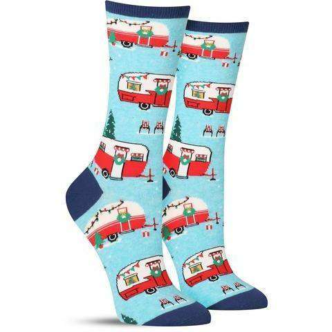 Sock Smith Holiday Socks Christmas Campers Holiday Socks  | Crew Socks for Women