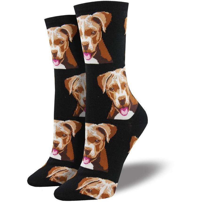Sock Smith Novelty Socks Pitbull Face Socks | Dog Socks for Women