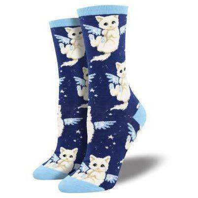 Purrfect Angel Socks | Cat Socks for Women