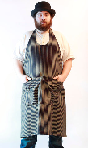 Basic Chef Apron in Brown Homespun