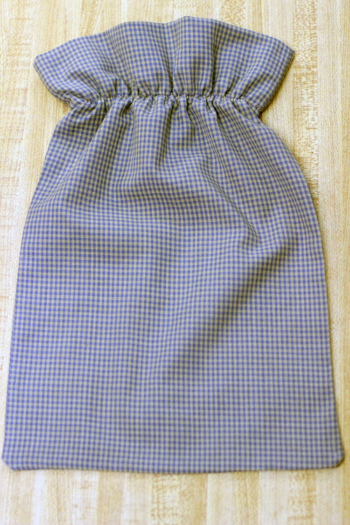 Bib for Adults in Brown Plaid Homespun