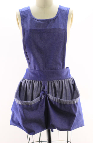 Bistro Apron in Navy Denim