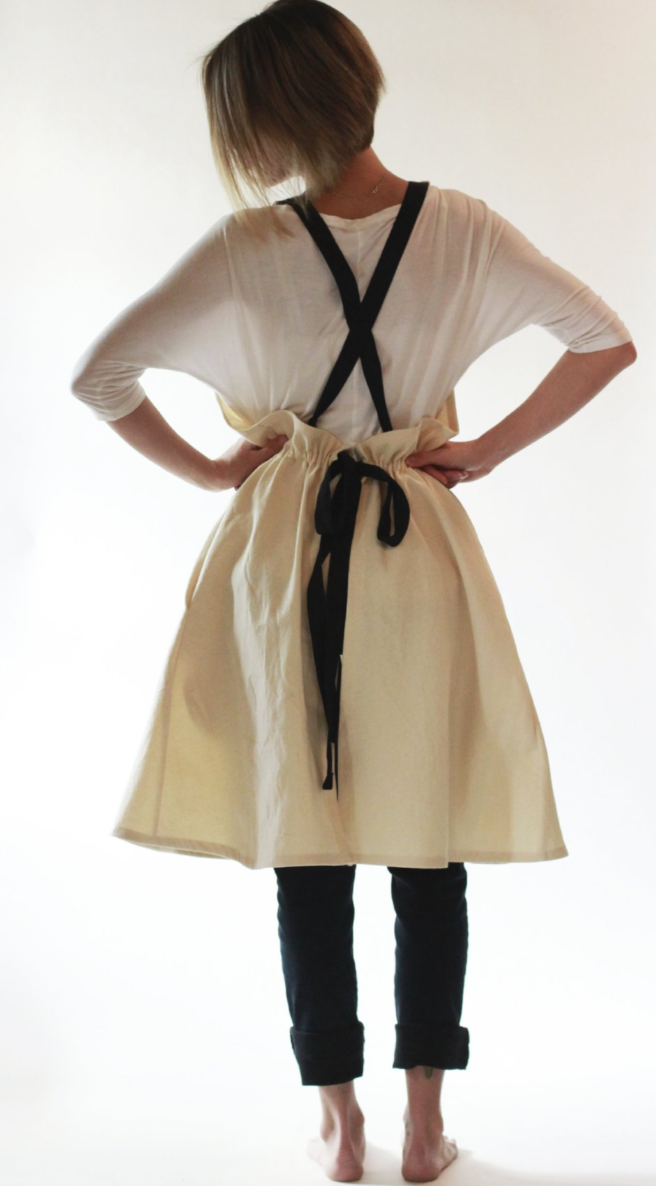 XS-5X A-Line Crossback Apron in Plain Canvas