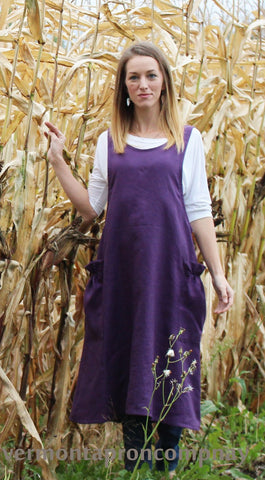 XS-5X in Harvest Print- No Tie Crossback Apron