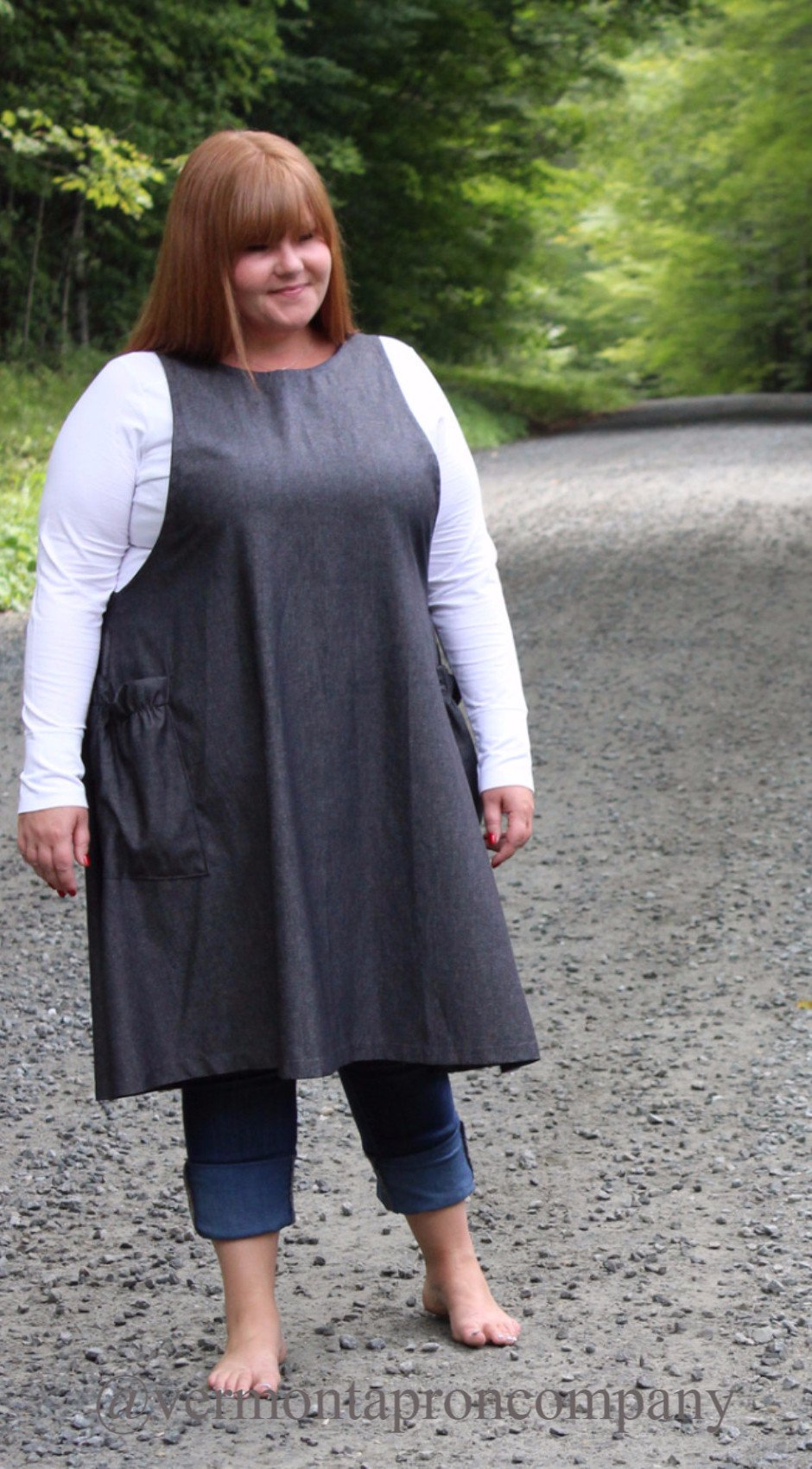 S-5X Jumper in Black Denim, plus size, front view