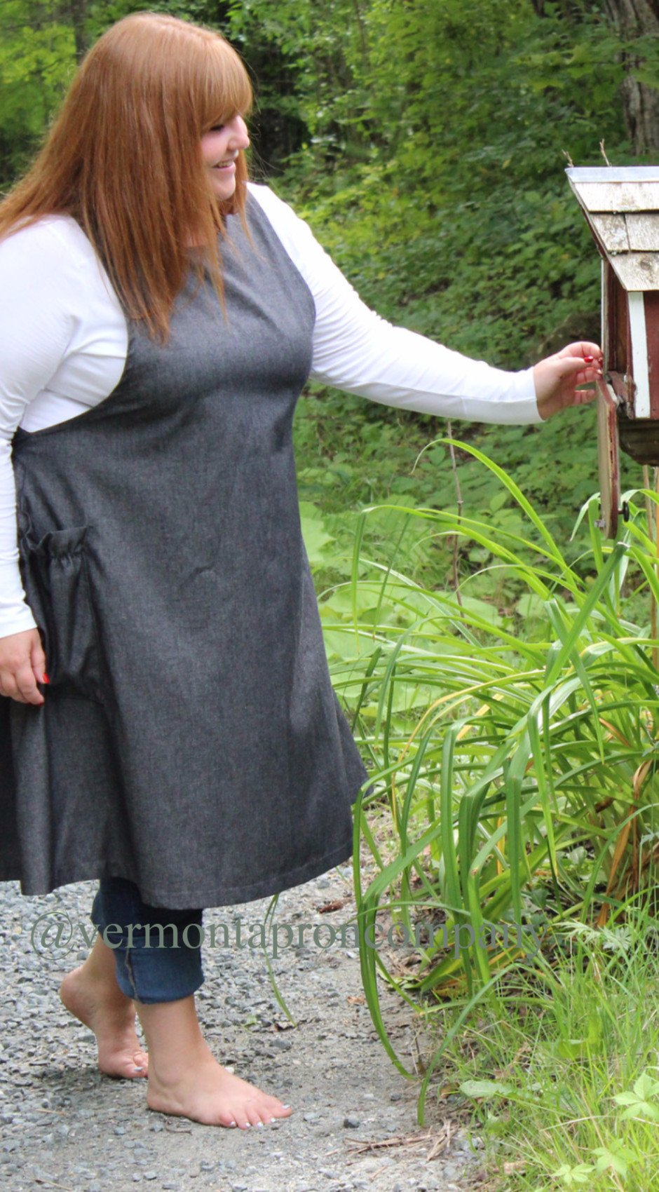 S-5X Jumper in Black Denim, plus size, side view