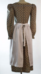 Linen Half Apron, back view