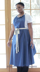 XS - 5X Long Bib Apron in Denim, front/ side view