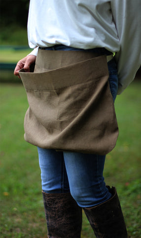 Pouch Apron in Navy Denim