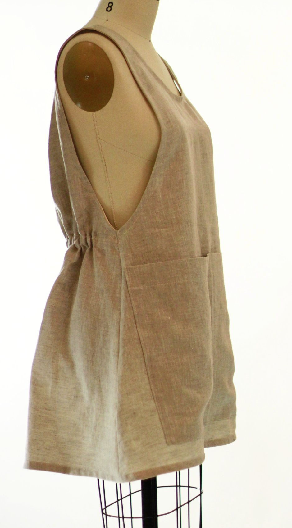 XS-5X Smock #2 in Flax Linen