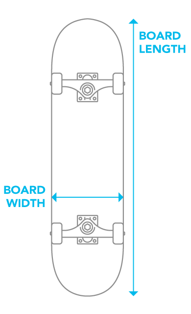 f8078367cce Wondering what size of skateboard deck or complete to purchase  Look no  further. We re here to help you find the best size and shape for your  riding style.