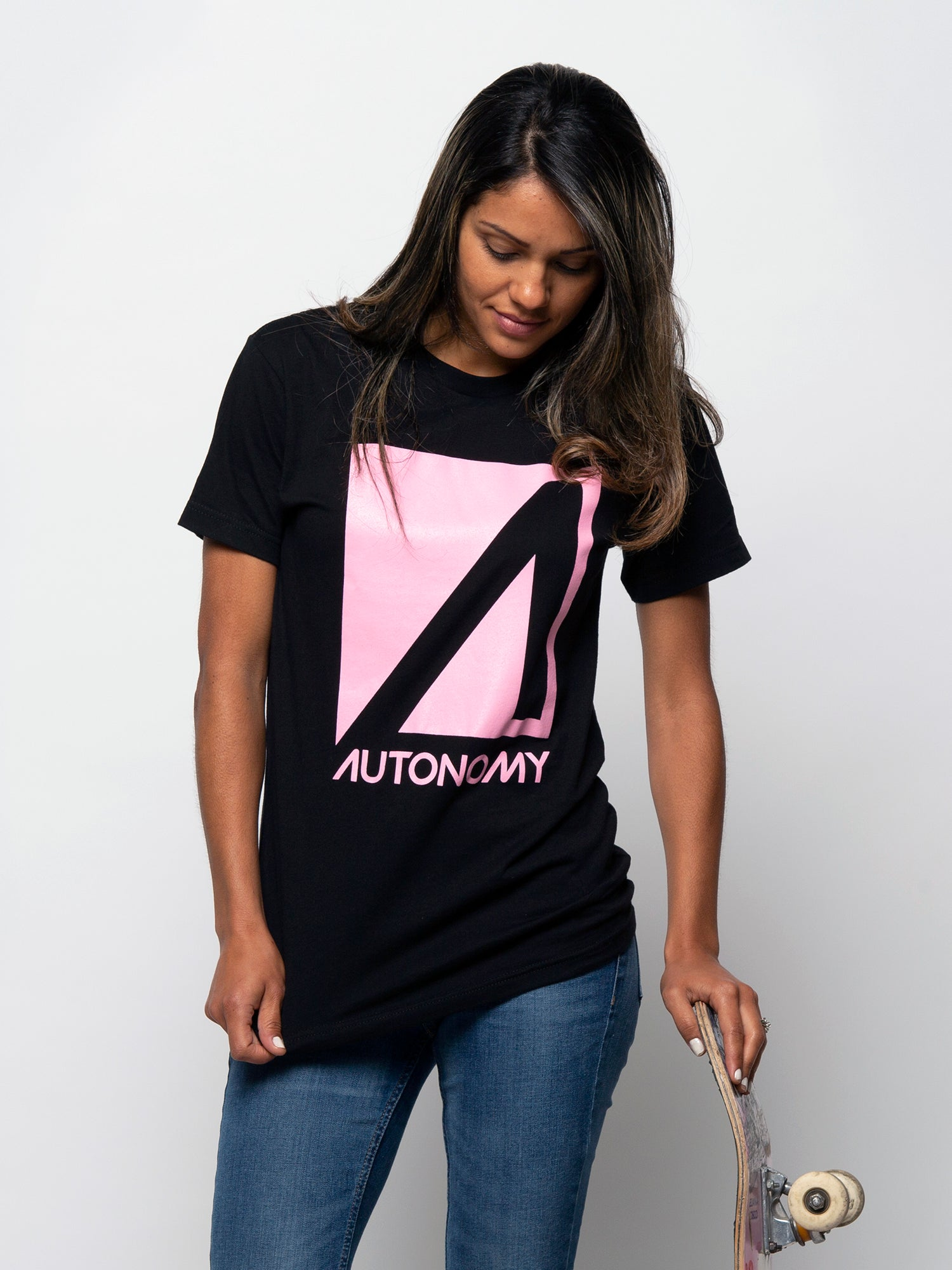 Autonomy No Comply T-shirt - Black w/Pink
