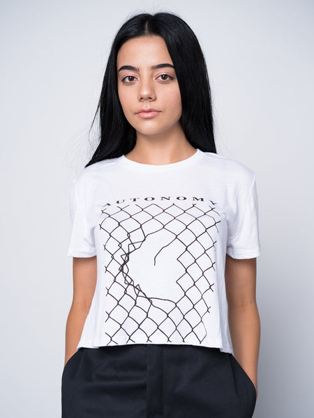Autonomy Breakthrough Crop Tee - White