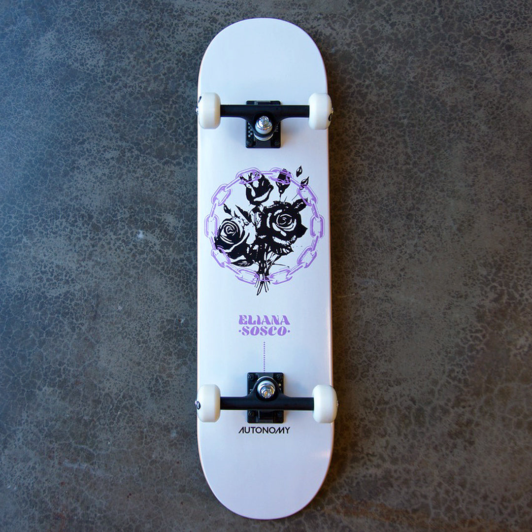 Autonomy Skateboards Eliana Sosco Pro Model ll Complete - White