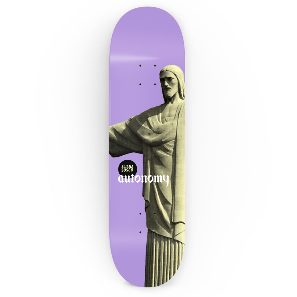 Autonomy Skateboards Eliana Sosco Pro Model lll Deck - Christos Purple