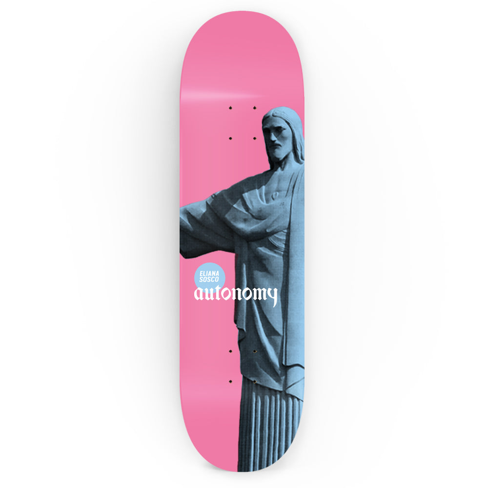Autonomy Skateboards Eliana Sosco Pro Model lll Deck - Christos Pink