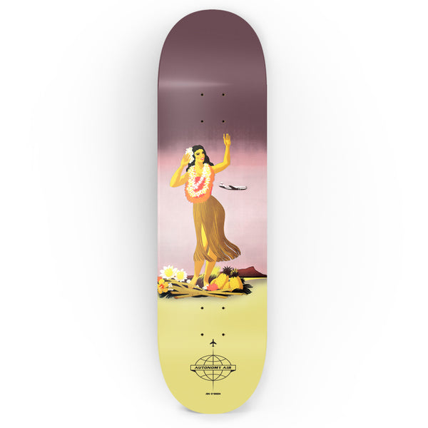 Autonomy Skateboards Deck - Jen O'Brien II Hemisphere - Hawaii