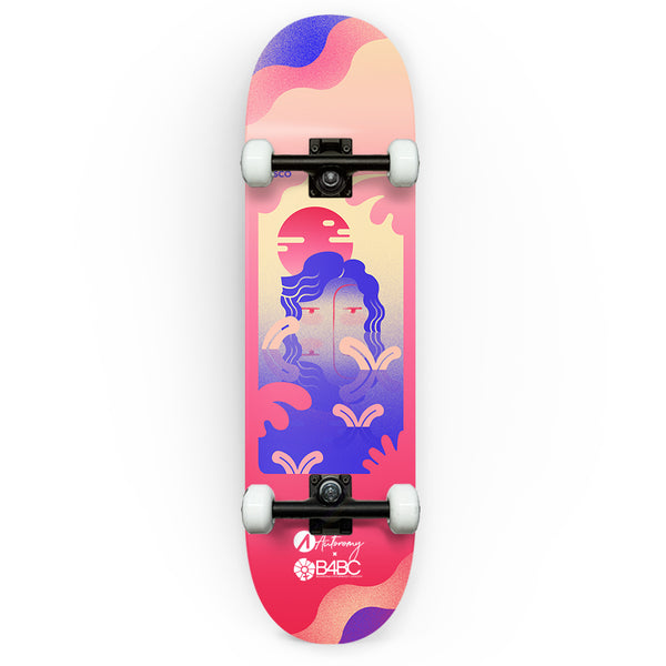 Autonomy Skateboards Complete - Eliana Sosco IV x B4BC - Reflection