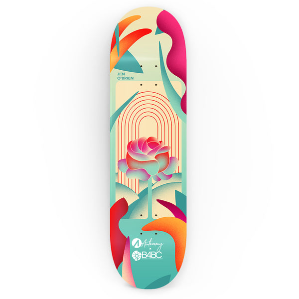 Autonomy Skateboards Deck - Jen O'Brien x B4BC - Rose