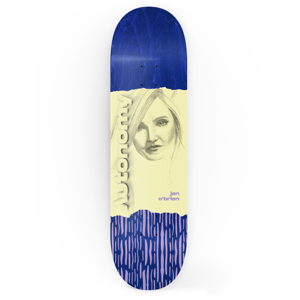 Autonomy Skateboards Deck - Jen O'Brien IV Portrait