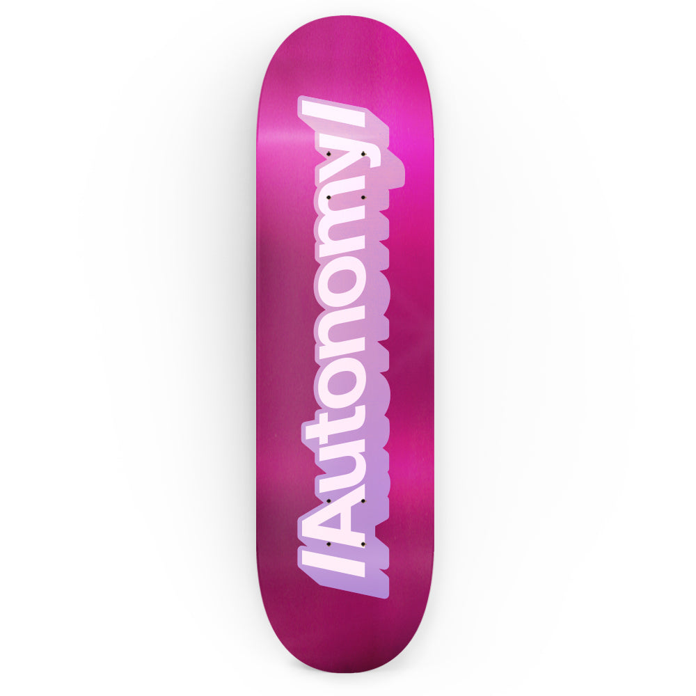 Autonomy Skateboards Decks for girls:  Achtung - Purple Foil