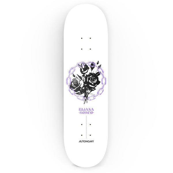 Autonomy Skateboards Eliana Sosco Pro Model ll Deck - White