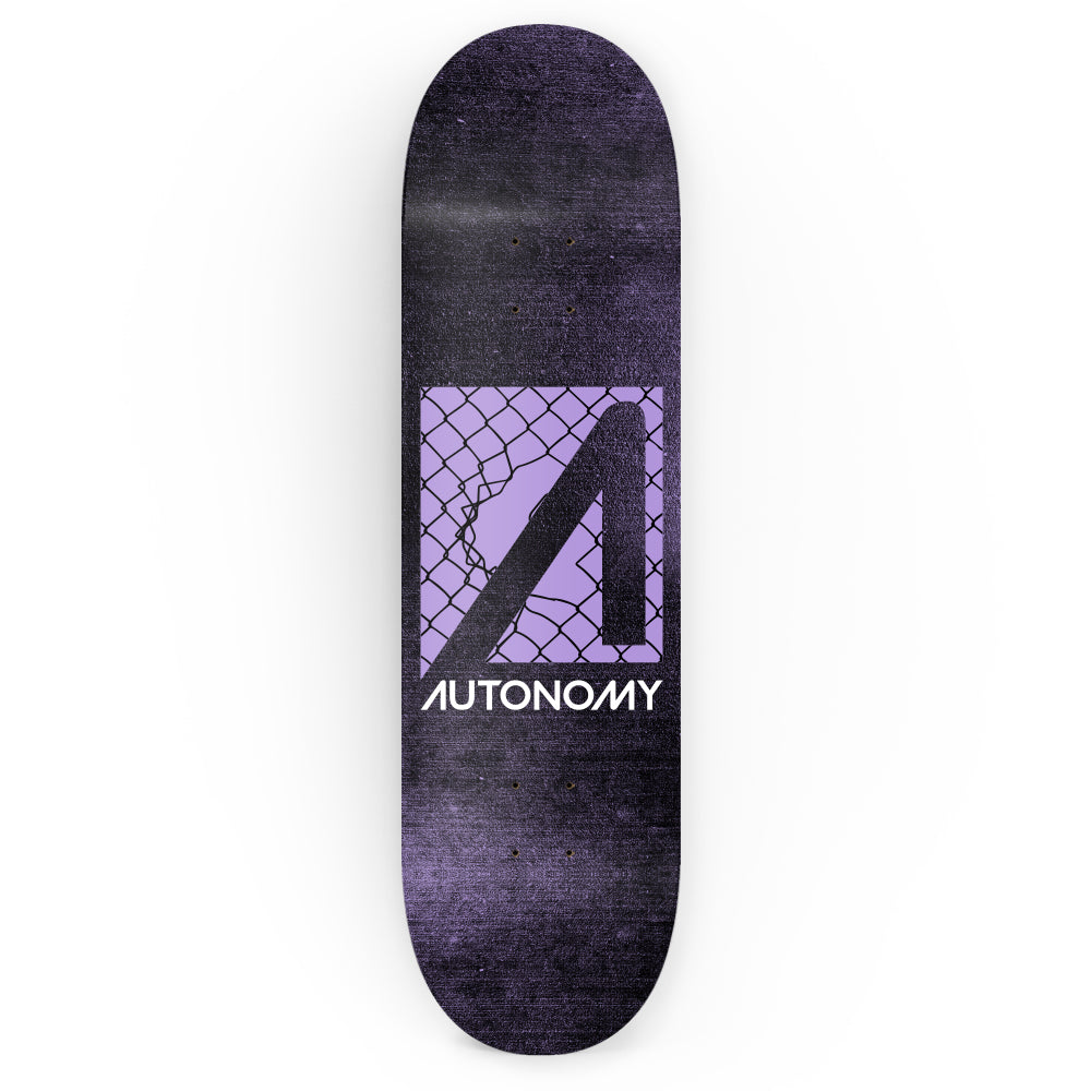 Autonomy Skateboards No Comply Deck - Breakthrough - Black/Purple