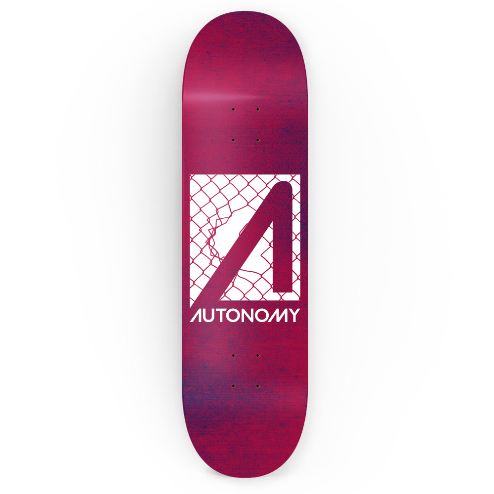 Autonomy Skateboards No Comply Deck - Breakthrough - Red/White