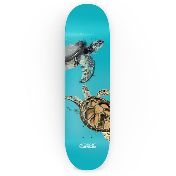 Endangered Series Deck - Sea Turtle by Autonomy Skateboards