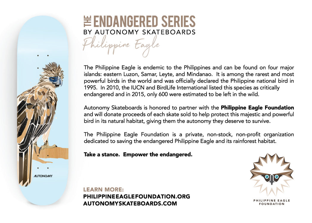 The Endangered Series by Autonomy Skateboards - Eagle Foundation