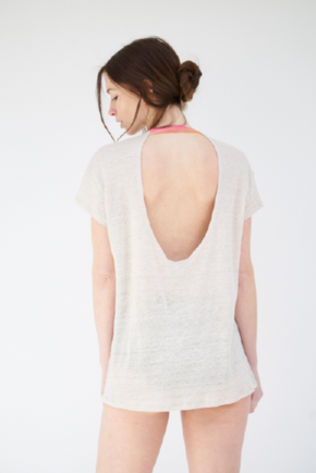 Scoop Back Tee