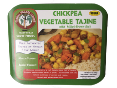 Chickpea Tajine box, vegan, vegetarian, gluten free dinner, frozen ready to eat home meal replacement