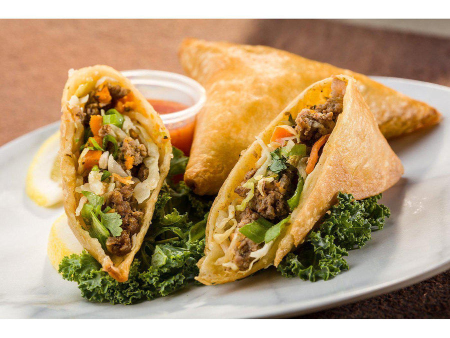 Global Village Cuisine | Herb Spiced Ground Beef Samosa