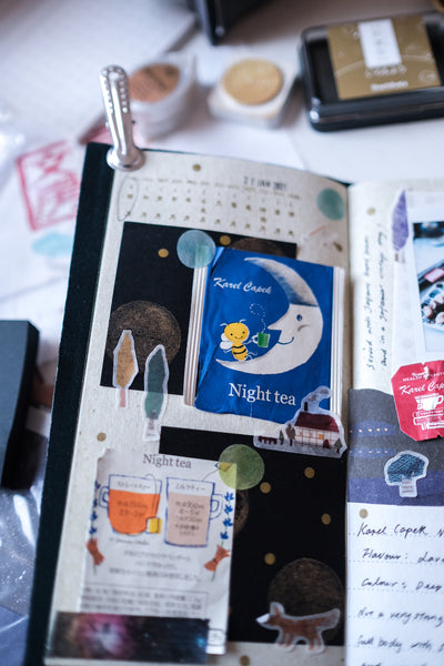 A tea journal using the Kyoto Edition Traveler's Notebook