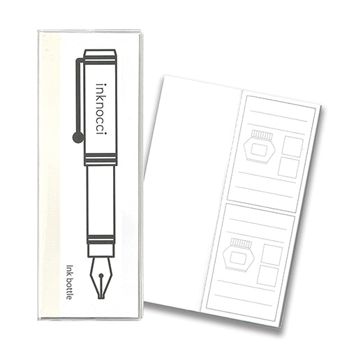 Kamiterior Inknocci Fountain Pen + Ink Swatch Notebook | Ink Bottle type
