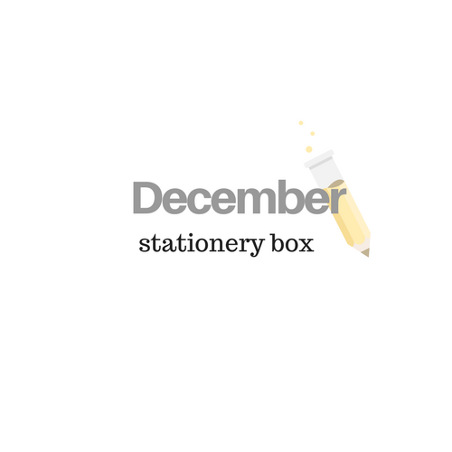 December Stationery Box *Not Subscription*