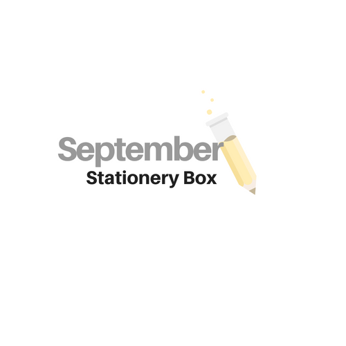 SEPTEMBER Stationery Box *NOT SUBSCRIPTION*
