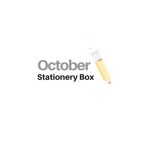 October 2019 Stationery Box *Not Subscription* -colors will vary