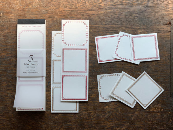 OEDA Letterpress 3 Pattern Label Book