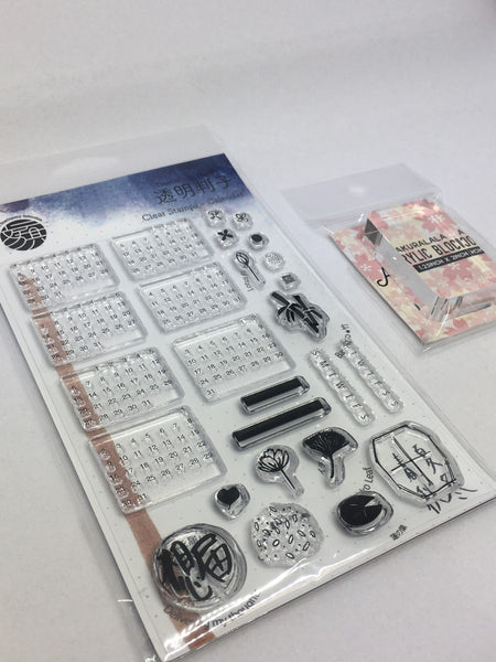 *RE-STOCKING* Clear Stamp Set + Acrylic Block FREE Worldwide Shipping