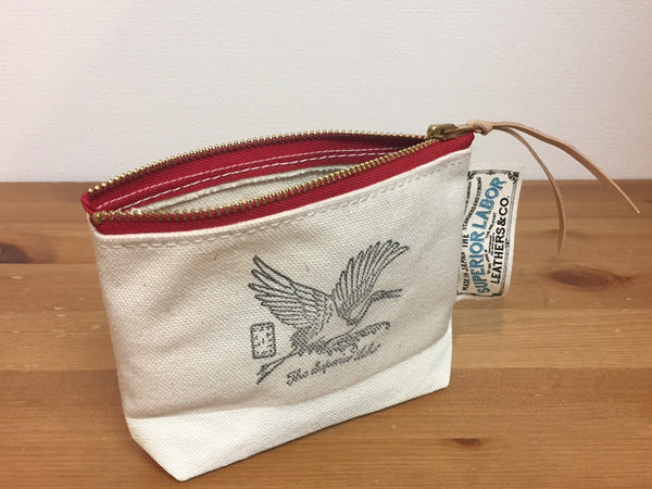 The Superior Labor White Crane Pouch [Original & Limited Edition]