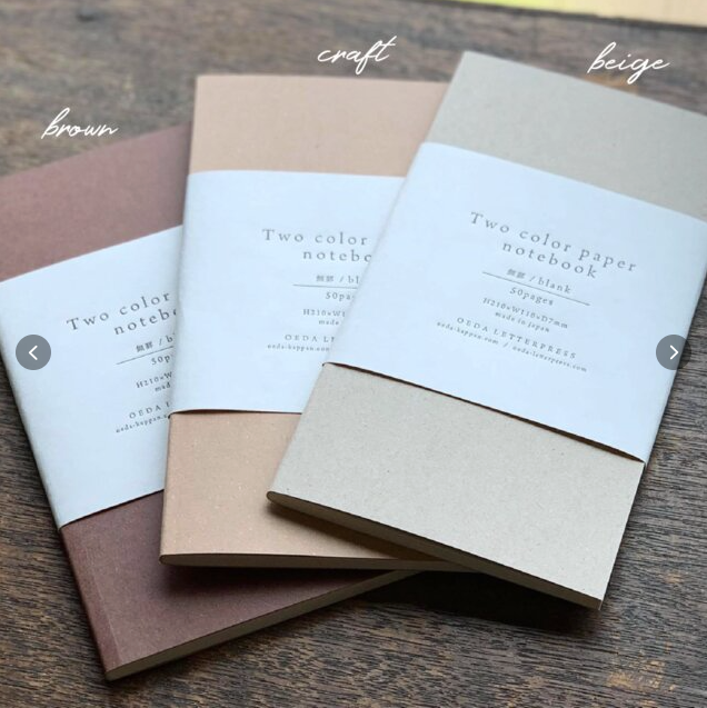 OEDA Letterpress Two Color Paper Notebook
