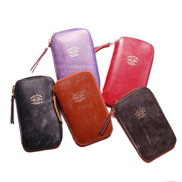 Bridle Leather Zip Pen Case | Various Colors Available [Pre-Order ends Aug 30]